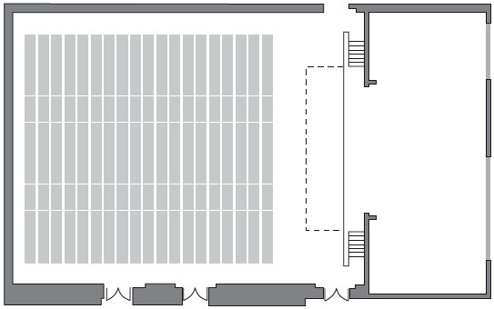 Main Hall floorplan (theatre only)